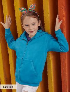 Enfant (veste zippée avec capuchon